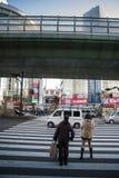 Japão - Osaka - rua do dori dos sennichimae imagens de stock