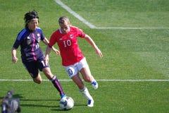 Japón contra Noruega Fotografía de archivo