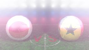 Japón contra Senegal, mundial 2018 de la FIFA Vídeo original 3D ilustración del vector