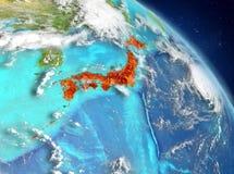 Japón de la órbita stock de ilustración