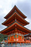 Japón, Kyoto, parque de Maruyama y sus templos imagen de archivo libre de regalías