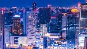 Japón Osaka City Skyline Timelapse metrajes