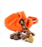 Japa Mala in the pocket Stock Photo