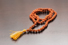Japa mala on the table Stock Images