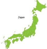 Japan översikt stock illustrationer