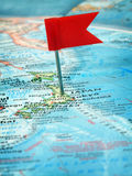 Japan. Flag pin on the map pointing Japan Royalty Free Stock Photo