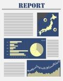 Japan affärsrapport Royaltyfri Fotografi