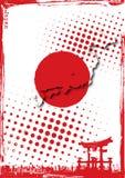 japan affisch Arkivfoto
