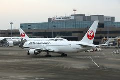 Japan Airlines Boeing 767 Obraz Stock