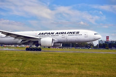 Japan Airlines Boeing 777 Arkivfoton