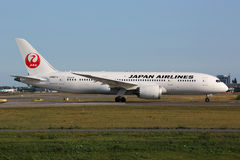 Japan Airlines Boeing 787 Dreamliner Royaltyfria Foton