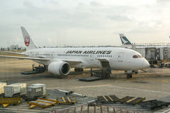 Japan Airlines. Co., Ltd. (JAL), is the flag carrier airline of Japan and the second largest in the country behind All Nippon Airways. It is Stock Images