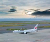 Japan Airlines dans l'aéroport international Japon de Chubu Centrair Photo stock