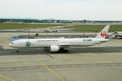 Japan Airlines JAL Boeing 777 Arkivbild