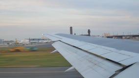 Japan Airlines som är klart att ta av lager videofilmer