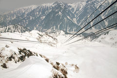 Japan Alps ,Cable car station, Shinhotaka Ropeway, Takayama Gifu Stock Images