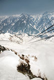 Japan Alps ,Cable car station, Shinhotaka Ropeway, Takayama Gifu Royalty Free Stock Images