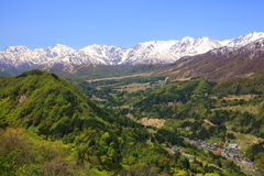Japan Alps of early summer Royalty Free Stock Image