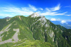Japan Alps Mt. Kaikomagatake royalty free stock image