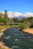 Japan Alps and river Stock Photography