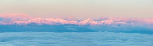 Japan Alps Sunrise Stock Photo