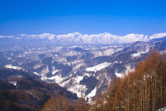 Japan Alps in winter Royalty Free Stock Photos