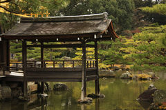 Japan Ancient architecture. The temple of the Golden Pavilion stock images