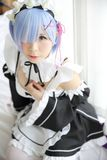 Japan anime cosplay girl in white tone. Room royalty free stock photography