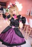 Japan anime cosplay , portrait of girl cosplay in pink room background. Japan anime cosplay , portrait of girl cosplay in pink room stock images