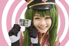 Japan anime cosplay , small cosplay in the picture royalty free stock image