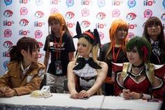 Japan Animestjärnor på den signera perioden i Animefestivalen Asien - Royaltyfria Bilder