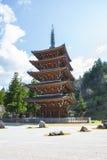 Japan. Aomori. Seiryu temple. Five-storied pagoda. Royalty Free Stock Photo