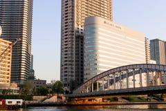 JAPAN - April 21th 2018 View and bridge at sumida river viewpoin. T,Japan Royalty Free Stock Image