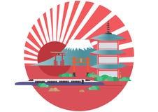 Japan architecture, tourism. Info graphics travel and landmark japan template design. Stock Photo