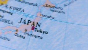 Japan. Asia. Terrestrial Globe 4K stock video footage