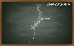 Japan auf Tafel Lizenzfreie Stockfotografie