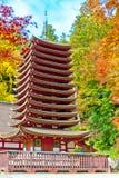 Japan Autumn Sakurai-Tonomine Nara, Japan lopp arkivfoto