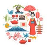 Japan background design Stock Photos