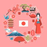 Japan background design Stock Photography