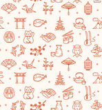 Japan Background Seamless. Vector Stock Image