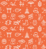 Japan Background Seamless. Vector Royalty Free Stock Photography