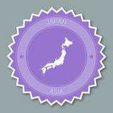 Japan badge flat design. Stock Photos