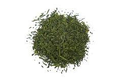 Japan Bancha Arashiyama green tea isolated on white. Background royalty free stock photos