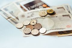 Japan Banknotes & Coins for business Stock Photos