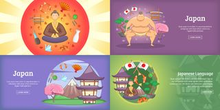 Japan banner set or poster vector illustration Stock Images