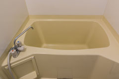 Japan bathtub in guest house. Royalty Free Stock Images