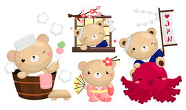 Japan Bear Vector Set Royalty Free Stock Photos