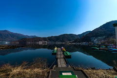 Japan. A beautiful Lake in the morning Royalty Free Stock Photography