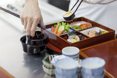 Japan Bento Preparing Royaltyfria Bilder