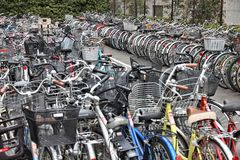 Japan bicycle parking Stock Photo